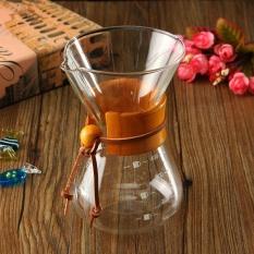 Spesifikasi Kaca Klasik Pembuat Kopi Chemex Gaya Pour Over Coffeemaker 400 Ml 3 Cangkir Internasional Murah