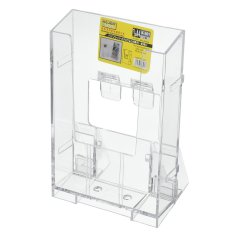 Clear Acrylic Business Card Holder Brosur Desk Stand Tampilan Pamflet 1/3 A4