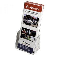 Clear-Ad-LHF-S100-Acrylic Trifold Brosur Holder-Pamphlet Display Stand (paket 10) -Intl