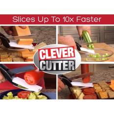 Gunting Serbaguna Clever Cutter 2 in 1 Pisau Talenan Multifungsi Massempoo