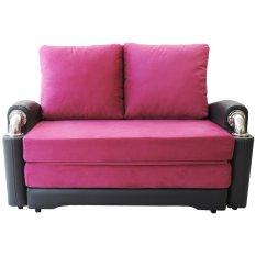 Clianta Sofa Bed Disha (Dark Grey - Magenta) - Khusus Bandung