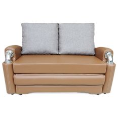 Clianta Sofa Bed Disha (Saddle Brown) - Khusus Bandung