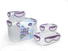 Rp 362.000. Clip Fresh Classic Box Set 4pcs - Transparan/Lid VioletIDR362000