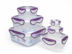 Toko Clip Fresh Classic Box Set 6 Buah Transparan Lid Violet Termurah
