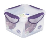 Cara Beli Clip Fresh Plastic Square Food Container 1 4L With Cubic Transparan Lid Violet