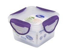 Clip Fresh Plastic Square Food Storage 0.23L - Transparan/Lid Violet