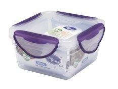 Harga Clip Fresh Plastic Square Food Storage 5L Transparan Lid Violet