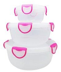 Spek Clip Fresh Round Box Set 3 Buah Pink