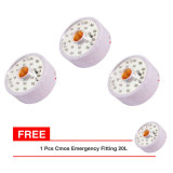 Harga Cmos Fitting Emergency Lamp Ft 20L Paket 3 Pcs Bonus 1 Pcs Termurah
