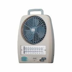 Beli Cmos Hk669 Emergency Lamp With Fan Rechargeable Lampu Darurat Kipas Angin Murah