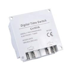 Cn101A AC Digital LCD Power Penghitung Waktu Yg Diprogram Relay Pengganti Waktu Timer Outdoor-Intl