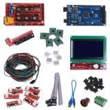Jual Cnc 3D Printer Kit Mega 2560 R3 Ramps 1 4 Controller Lcd 12864 5 A4988 Stepper Driver Intl Import