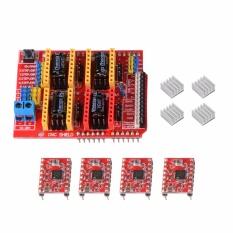 CNC Shield Board V3 + 4Pcs A4988 Driver + 4pcs Heatsink Kit for Arduino TE764 - intl