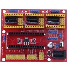 CNC Shield V4 Ukiran Mesin Stepper Motor Driver untuk ARDUINO GRBL (Merah)-Intl