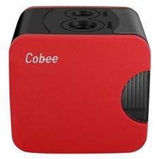 Cobee Rautan Pensil dan USB Operated Electric Pencil Cutter untuk Anak Dewasa dan Artis, Dual Lubang Penajam Desain (Merah)-Intl