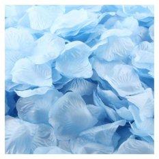 Coconie 1000 Buah Sutra Mawar Kelopak Buatan Jasa Dekorasi Pesta Pernikahan Bunga Biru Muda