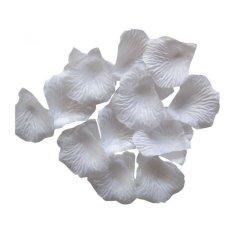 Coconie 2000 buah sutra mawar kelopak bunga buatan Partai pernikahan jasa dekorasi (putih)