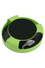 Cocotina Perlengkapan Pet Lucu Plastik Cat Toy Dengan Rotating Spinning Mouse Kitten Bermain Mainan Goresan Pad Hijau Cocotina Diskon 40