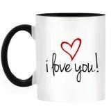 Beli Kopi Hadiah Cangkir Teh I Love Anda Desain Sederhana Dua Nada Mug Dengan Black Handle Inner Intl Terbaru
