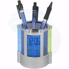 Harga Color Change Desk Clock Temperatur Display With Pen Holder Origin