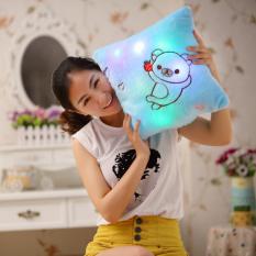 Colorful Piggy Sinar Bercahaya Cahaya Lembut Bantal Nyaman Relax Gift-Intl