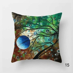 Toko Colorful Linen Tapestry Cushion Cover Bantal Sofa Sofa Sofa Dekorasi 15 Internasional Terdekat