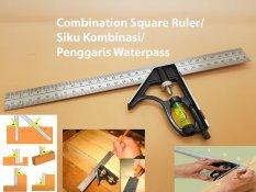 Combination Square Ruler / Penggaris Siku Kombinasi Waterpass