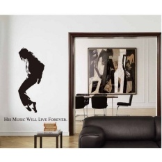 Memperingati Michael Jackson MJ Music Bedroom Fashion Superstarscrawl Dinding Decals Stiker-Intl