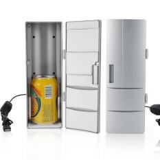 Compact Mini USB Fridge Freezer Cans Drink Beer Cooler Warmer Travel Car Office Use - intl