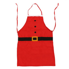 Cooking Kitchen Apron Xmas Party Baking  BBQ Pinafore Christmas Gift Present Red