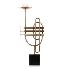 Cornet Lilin-Tinggi Elemen Musik Dasar Marmer Meja Makan Malam, Ornamen Pernikahan Dekorasi-Internasional