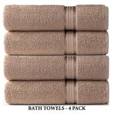 Cotton Craft Ultra Soft 4 Pack Besar Ekstra Handuk Mandi 30 Xinen Beratnya 22 Ons-100% Tapal Kapas Murni -Rayon Trim Mewah-Ideal untuk Pemakaian Sehari-hari-cuci Mesin Perawatan Yang Mudah-Intl