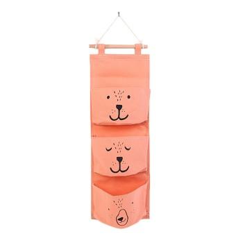 Penjualan Cotton Linen 3 Kantong Organizer Dekoratif Dinding Pintu Pouch Holder Closet Hanging Storage Case Tas-Internasional terbaik murah - Hanya Rp71.909