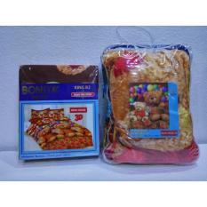 Couple Sprei + Selimut Super Lembut Dan Tebal Merk Bonita - Bear House Uk. 180/160X200 CM
