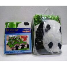 Couple Sprei + Selimut Super Lembut Dan Tebal Merk Bonita - Panda Uk. 180x200/160X200 CM