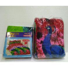 Couple Sprei + Selimut Super Lembut Dan Tebal Merk Bonita - ROSE MERAK Uk. 180/160X200 CM