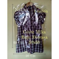 Cover baju 50x68 Plastik Mika Transparan Pembungkus Pelindung Pakaian