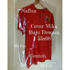 Cover Baju 55x68 Plastik Mika Transparan Pembungkus Pelindung Pakaian