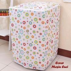 Cover Mesin Cuci POLKADOT (Bahan satin tebal, anti air, anti panas) Terbaru