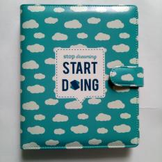 Harga Crable Stationery Binder Start Doing A5 Blue Asli