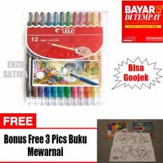 Jual Crayon Putar Twist Crayon Titi 12 Warna Free 3 Pics Buku Gambar Mewarnai Titi Grosir