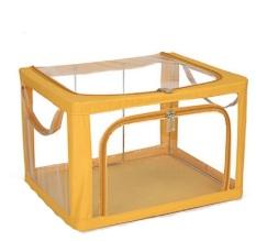 Ulasan Crazy 8 Transparant Storage Rangka Besi Kapasitas 30Kg Kuning