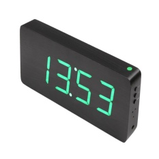 Beli Creative Alarm Clock Voice Digital Electronic Wood Clo Led Clock Intl Secara Angsuran