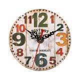 Kreatif Antik Jam Dinding Vintage Kayu Putaran Jam Rumah Dekorasi 3 Oem Diskon 50