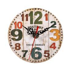 Kreatif Antik Jam Dinding Vintage Kayu Putaran Jam Rumah Dekorasi 3 Oem Diskon