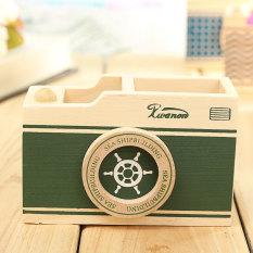 Harga Kamera Vintage Kantor Kreatif Pulpen Pensil Meja Dudukan Pot Penyelenggara Hadiah Kotak Hijau Oem Asli