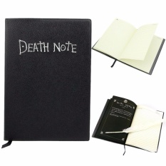 Kreatif Kematian Notebook Cosplay Notebook Agenda Organizer Vintage Notebook & Feather Pen Menulis Jurnal Diary-Intl