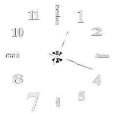 Creative DIY Jam Dinding Kamar Tidur Luar Biasa Jam Dinding Modern Kepribadian Art (Silver)