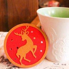 Kreatif Silikon PVC Berkualitas Tinggi Coasters Cup Mat untuk Hadiah Natal Elk Hot-Intl