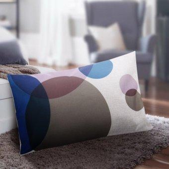 Review of Pola kotak-kotak kreatif sarung bantal katun tebal 30 x 50 sarung bantal pinggang anggaran terbaik - Hanya Rp32.706